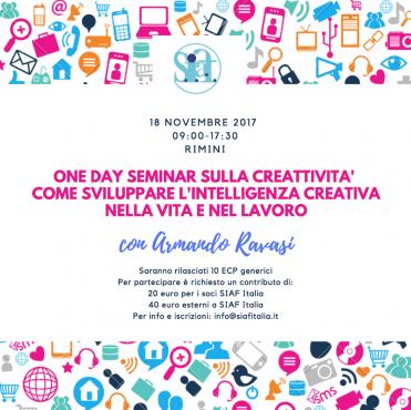 Rimini – Come sviluppare l'Intelligenza Creativa nella Vita e nel Lavoro