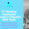 V° Meeting Nazionale Direttori Didattici SIAF