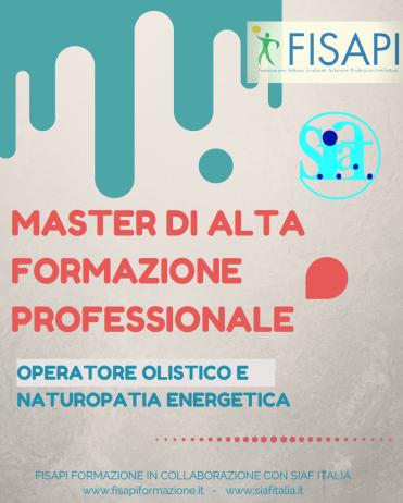 """MASTER IN """"OPERATORE OLISTICO E NATUROPATIA ENERGETICA"""""""