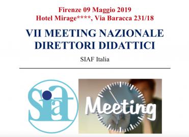 VII° Meeting Nazionale Direttori Didattici SIAF Italia