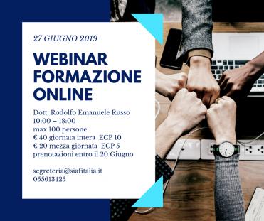 Webinar – Formazione Online