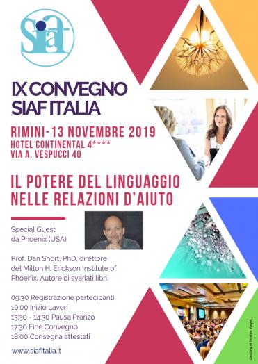 IX CONVEGNO SIAF ITALIA – INFORMAZIONI PER L'ISCRIZIONE