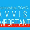 Fase 2 Covid19 – Gestione attività a partire dal 18 Maggio