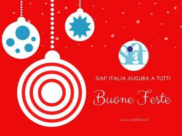 Auguri agli associativi SIAF Italia e chiusura per le festività